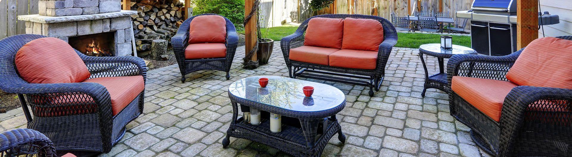 wicker patio setting