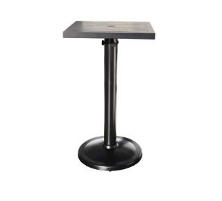 "Product Name: Monaco 24"" Square Pedestal Bar Table"
