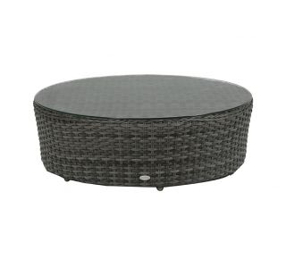 "Product Name: Portfino 40"" Round Coffee Table with Glass"
